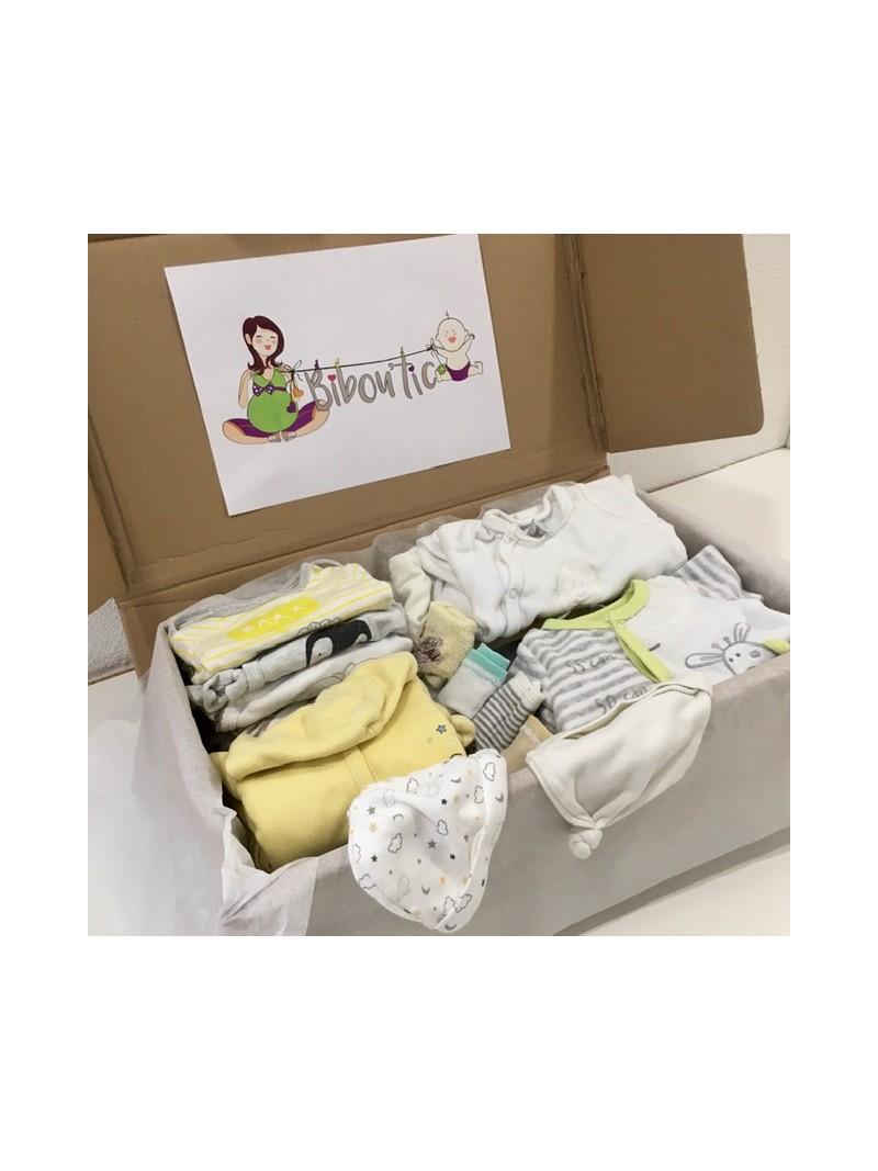 Box standard naissance: vêtements neutres pour bébé garçon ou fille | Bibou'tic