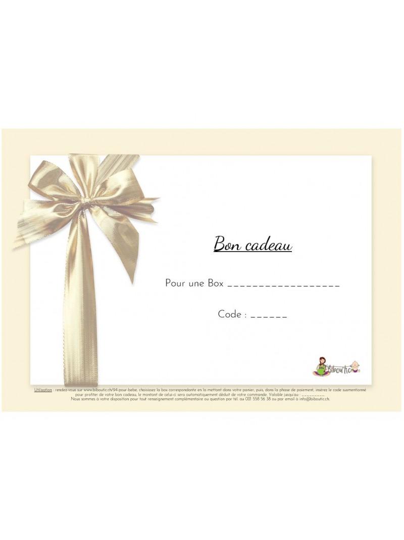 Bon cadeau pour Box de vêtements pour bébé à louer sur Bibou'tic