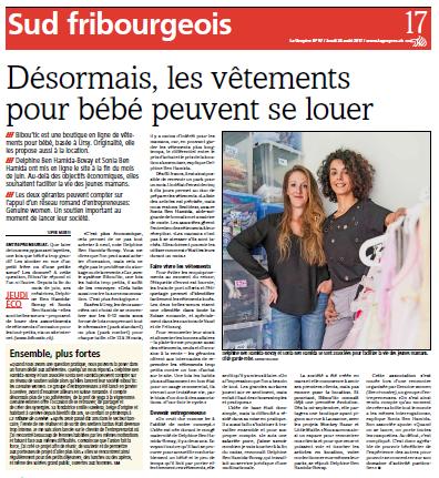 Bibou'tic dans La Gruyère, le 24 août 2017