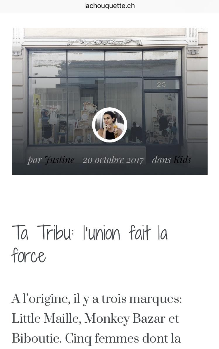 Bibou'tic dans le blog de La Chouquette, le 20 octobre 2017