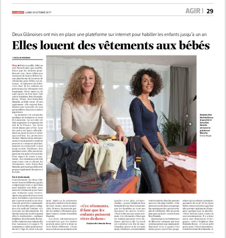 Bibou'tic dans La Liberté, le 30 octobre 2017