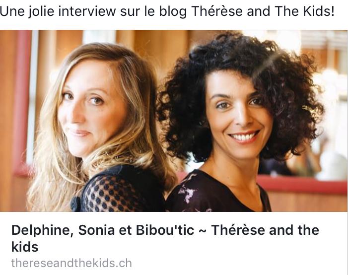 Bibou'tic dans le blog Thérèse And The Kids, le 25 août 2017